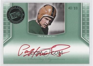 2011 Press Pass Legends - [???] #SS-PH - Paul Hornung /99