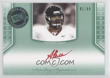2011 Press Pass Legends - [???] #SS-SP - Stephen Paea