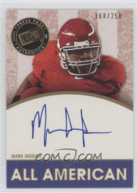 2011 Press Pass Legends - All American Autographs - Gold #AA-MI - Mark Ingram /250