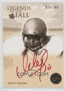 2011 Press Pass Legends - Legends of the Fall - Gold Red Ink Autograph [Autographed] #LOF-IW - Ickey Woods /399
