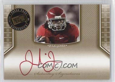 2011 Press Pass Legends - Saturday Signatures - Red Ink #SS-JJ - Julio Jones