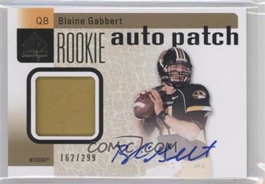 2011 SP Authentic - [Base] #205 - Blaine Gabbert /299