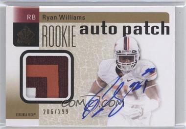 2011 SP Authentic - [Base] #206 - Ryan Williams /299