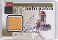 Rookie Auto Patch - Ronald Johnson #/699