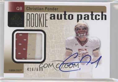 2011 SP Authentic - [Base] #229 - Christian Ponder /699