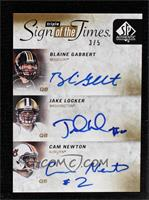 Blaine Gabbert, Cam Newton, Jake Locker #/5