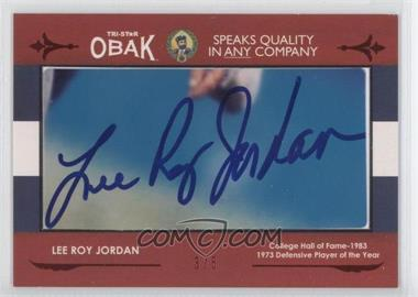 2011 TRI-STAR Obak - Cut Signatures - Red #LEJO - Lee Roy Jordan /5