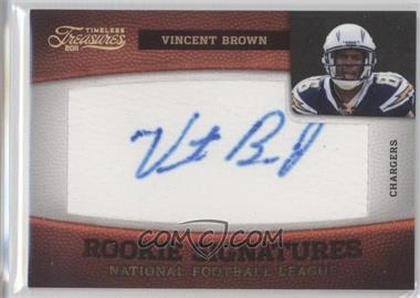 2011 Timeless Treasures - [Base] - Gold #221 - Vincent Brown /10