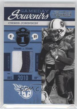 2011 Timeless Treasures - Gameday Souvenirs - 1st Quarter Prime #18 - Chris Johnson /25