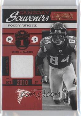 2011 Timeless Treasures - Gameday Souvenirs - 1st Quarter Prime #8 - Roddy White /25