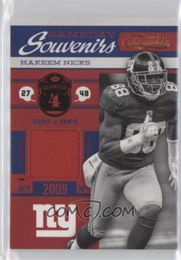2011 Timeless Treasures - Gameday Souvenirs - 4th Quarter Prime #25 - Hakeem Nicks /25