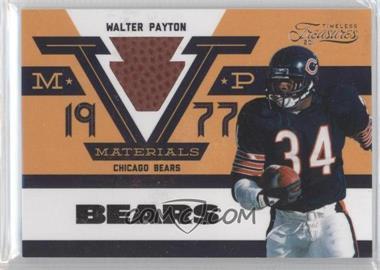 2011 Timeless Treasures - MVP Materials #3 - Walter Payton /99