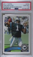 Cam Newton (Making 4 With Left Hand) [PSA 10 GEM MT]