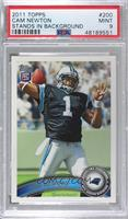 Cam Newton (Making 4 With Left Hand) [PSA9MINT]