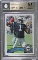 Cam Newton (Making 4 With Left Hand) [BGS 9.5 GEM MINT]