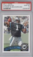 Cam Newton (Making 4 With Left Hand) [PSA 10]