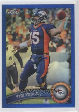 2011 Topps Chrome - [Base] - Blue Refractor #148 - Tim Tebow /199