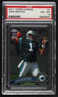 Cam Newton (Throwing Ball) [PSA8NM‑MT]