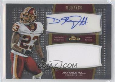 2011 Topps Finest - Autographed Jumbo Relic #AJR-DHA - DeAngelo Hall /189
