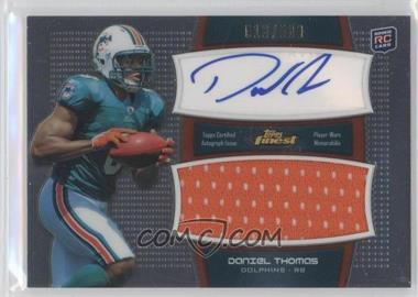 2011 Topps Finest - Autographed Jumbo Relic #AJR-DT - Daniel Thomas /500