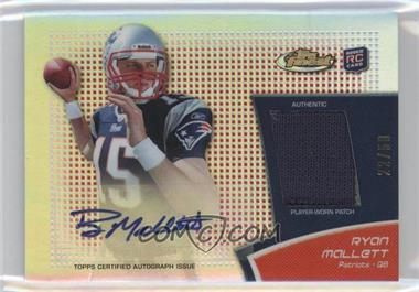 2011 Topps Finest - Rookie Autograph Patch - Red Refractor #RAP-RM - Ryan Mallett /50
