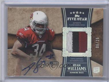 2011 Topps Five Star - [Base] - Rookie Patch Autographs Rainbow [Autographed] [Memorabilia] #173 - Ryan Williams /25