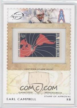 2011 Topps Gridiron Legends - Stamp of Approval Relics #SOAR-EC - Earl Campbell