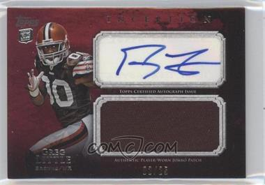 2011 Topps Inception - Rookie Autographed Jumbo Patch - Red #AJP-GL - Greg Little /25