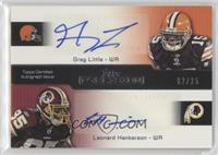 Greg Little, Leonard Hankerson /25
