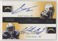 Jordan Todman, Vincent Brown #/25