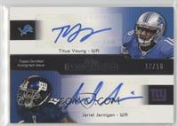 Titus Young, Jerrel Jernigan, Austin Pettis, Vincent Brown #/10