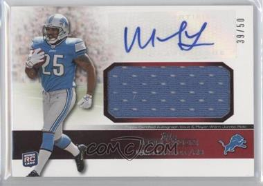 2011 Topps Precision - Rookie Autographed Jumbo Relic - Red #RAJR-ML - Mikel Leshoure /50