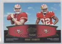 Colin Kaepernick, Kendall Hunter /50