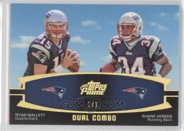 2011 Topps Prime - Dual Combo - Hobby Exclusive Prime #DC-MV - Ryan Mallett, Shane Vereen /1