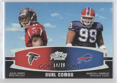 2011 Topps Prime - Dual Combo - Silver Rainbow #DC-JD - Julio Jones, Marcell Dareus /25