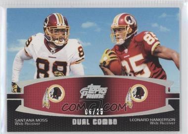 2011 Topps Prime - Dual Combo - Silver Rainbow #DC-MH - Santana Moss, Leonard Hankerson /25