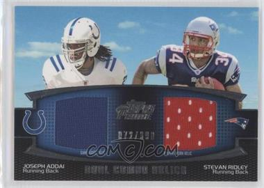 2011 Topps Prime - Dual Combo Relics #DCR-AR - Joseph Addai, Stevan Ridley /398