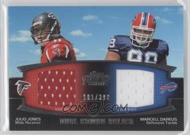 2011 Topps Prime - Dual Combo Relics #DCR-JD - Julio Jones, Marcell Dareus /398