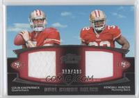 Colin Kaepernick, Kendall Hunter /398