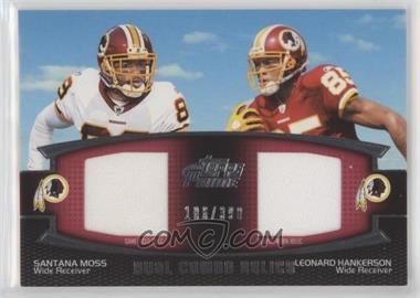 2011 Topps Prime - Dual Combo Relics #DCR-MH - Santana Moss, Leonard Hankerson /398