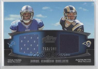 2011 Topps Prime - Dual Combo Relics #DCR-YP - Titus Young, Austin Pettis /398