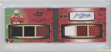 2011 Topps Prime - Level I Autographed Relic Book #PI-KH - Kendall Hunter /10