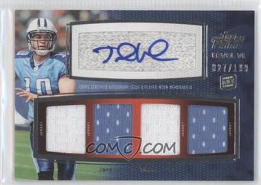 2011 Topps Prime - Level VI Autographed Relic #PVI-JL - Jake Locker