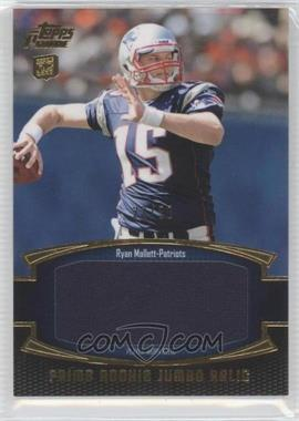 2011 Topps Prime - Prime Rookie - Gold Jumbo Relics #PRJ-RM - Ryan Mallett /50