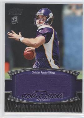 2011 Topps Prime - Prime Rookie - Jumbo Relics #PRJ-CP - Christian Ponder /318