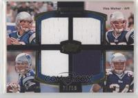 Tom Brady, Wes Welker, Ryan Mallett, Shane Vereen /50