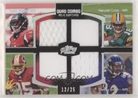 Julio Jones, Randall Cobb, Leonard Hankerson, Torrey Smith #/25