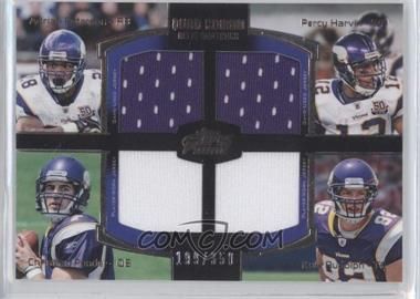 2011 Topps Prime - Quad Combo Relics #QCR-PHPR - Adrian Peterson, Percy Harvin, Christian Ponder, Kyle Rudolph /350