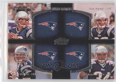 2011 Topps Prime - Quad Combo #QC-BWMV - Tom Brady, Ryan Mallett, Wes Welker, Shane Vereen