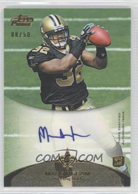 2011 Topps Prime - Rookie Autographs - Gold #7 - Mark Ingram /50